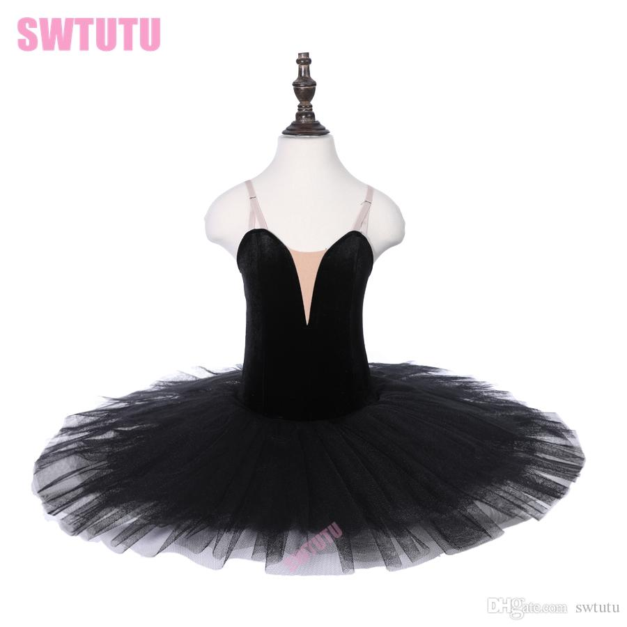 PPL18044A Black Swan Classical Performance Dance Costume Stage Ballet Tutu Dress Girls Ballerina Skirts Ballet Leotard for Child
