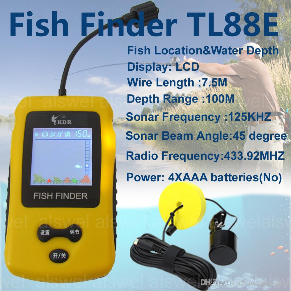 Free Shipping Hot Sale Alarm Brand New KDR 100M Portable Sonar Colorful LCD Fish Finder Fishing lure Echo Sounder Fishing Finder