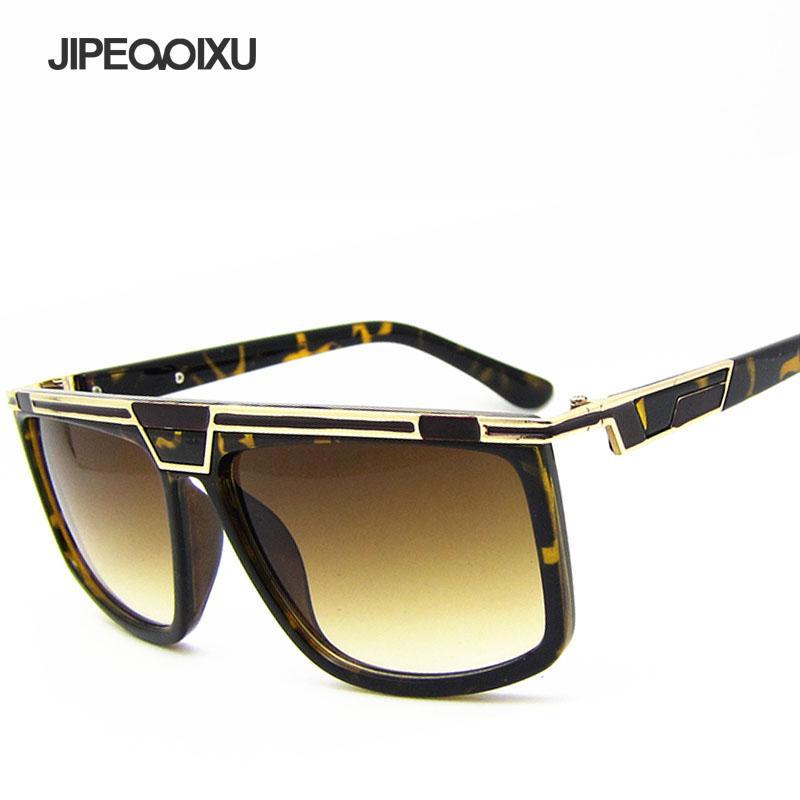 Compre JIPEMIXU Grande Quadrado Óculos De Sol Dos Homens Moda Legal Óculos  De Sol Da Marca Designer De Leopardo Óculos De Impressão UV400 Oculos De Sol  De ... 0f74829427