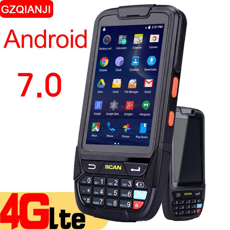 Android 7 0 PDA Handheld data collector pda terminal wifi 1D bluetooth  barcode reader scanner 2D inventory management warehouse