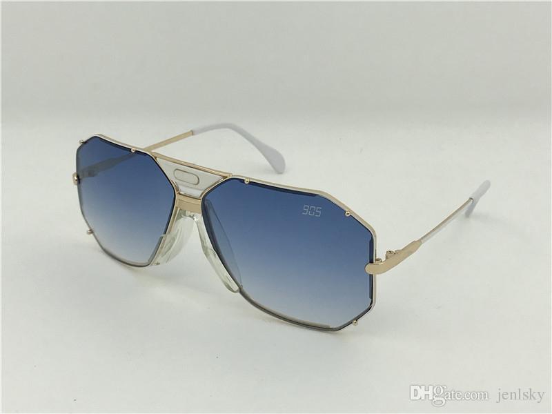216b6f938f Acheter 905 Lunettes De Soleil Unisexes Vintage Doré / Blanc Dégradé Bleu  Sonnenbrille Occhiali Da Sole De $52.8 Du Jenlsky   DHgate.Com