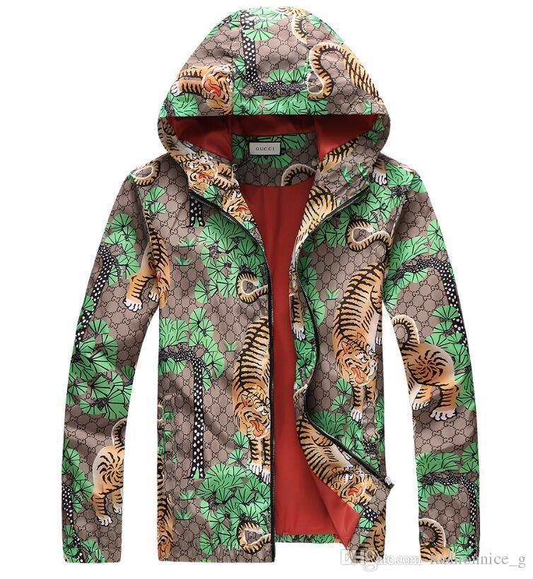 online store 7db96 7097e New Luxury Fashion Brand Damen und Herren Windbreaker Jacke Druck Jacken  Casual Oberbekleidung Tops Unisex Kapuzenmantel G4271