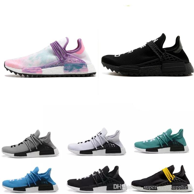best service c4add bbfee (with box)2019 Cheap Human Race pharrell williams Women Men Fashion Outdoor  Training Sneaker Human Races Running Shoes sports sneaker