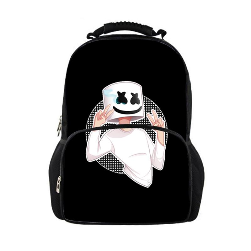 aad98ed164e9 Cool Marshmello Printing Children School Bags Large Teenage Girls Boys  School Backpacks Bags Travel Backpack Helmet Junior Bag