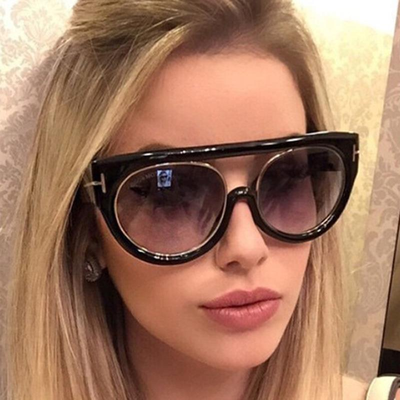 61919c61164 Pop Age 2018 New High Quality Oversized Cat Eye Sunglasses Women Men Italy  Brand Designer Round Eyeglasses Celebrity Sunglasses Circle Sunglasses Glass  ...