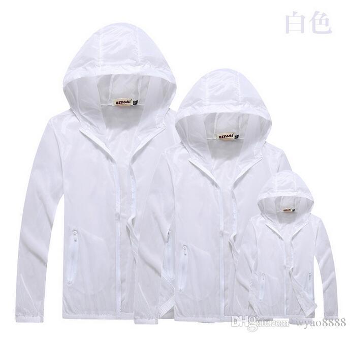 Ücretsiz Kargo 2018 Açık Havada Rüzgar Giyim Üstleri Erkek Kadın Su Itici Geçirmez Güneş Kremi Cilt Anti UV Ceketler