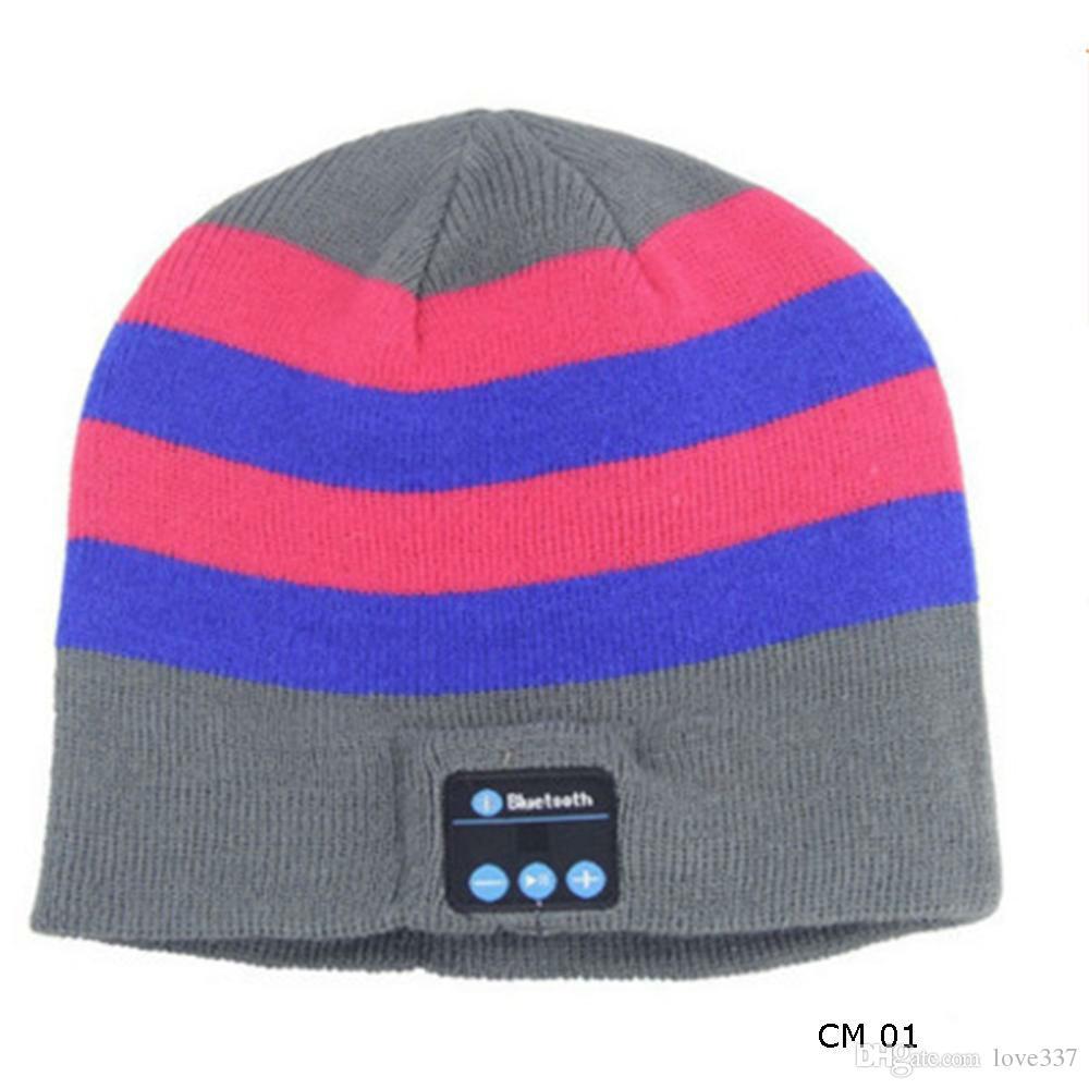 Winter Warm Soft Bluetooth Headset Headphone Beanie Hat Women Men Unisex Wireless Bluetooth Smart Cap Speaker Mic Hats