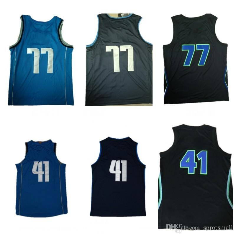 1d9c471a6 Cheap 77 Luka Doncic Blue Jersey High Quality 41 Dirk Nowitzki ...