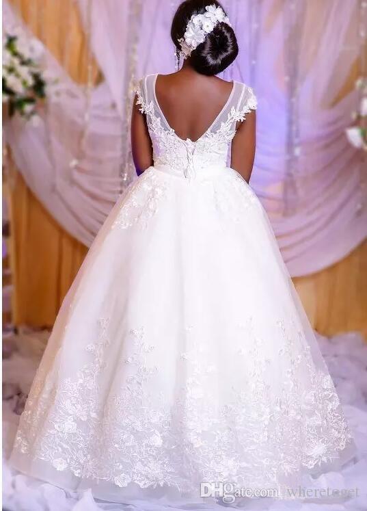 White Princess Pizzo Abiti da sposa 2019 sexy del merletto africano fino Backless nero ragazze più gli abiti di formato del vestito da sposa formale