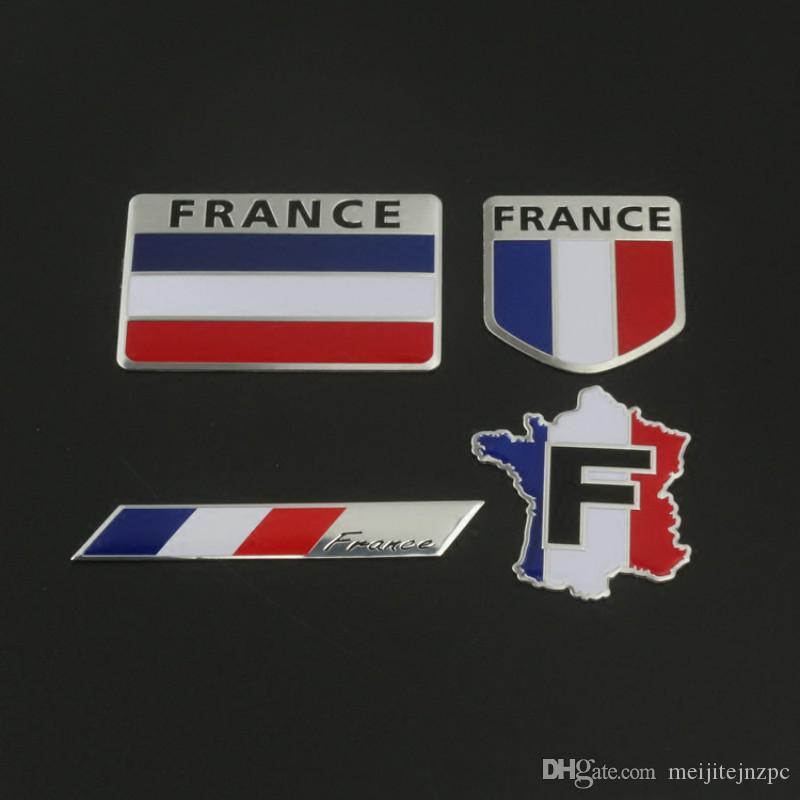 car peugeot car logo metal sticker body decoration tricolor flag