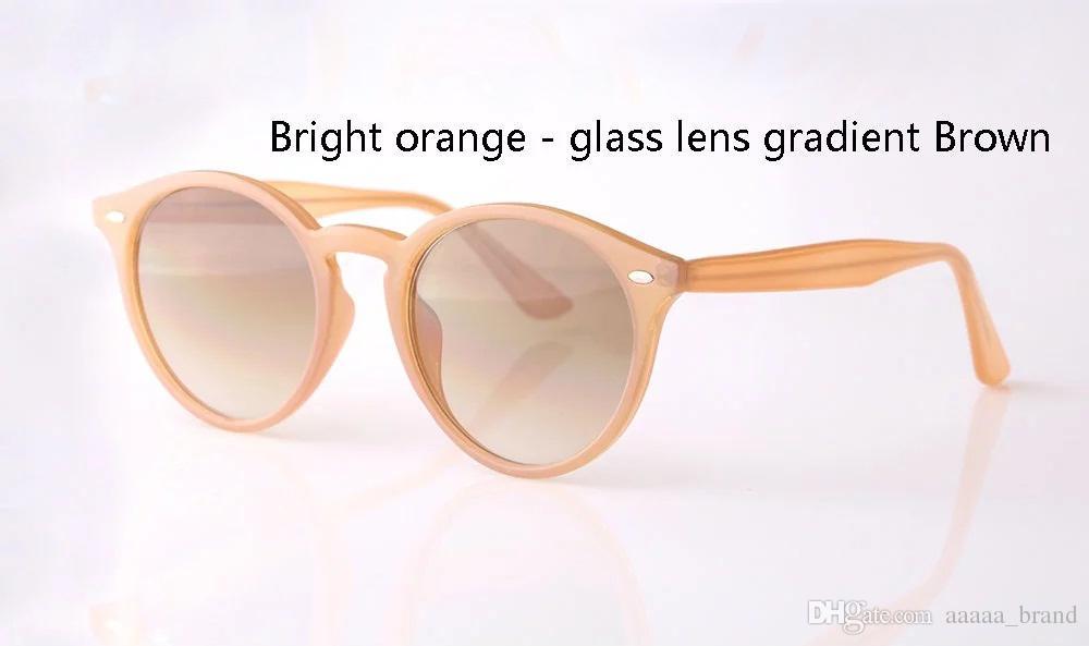 New Arrival classic Round sun glasses Brand Designer Fashion sunglasses men women mirror uv400 glass lens with Retail box and label