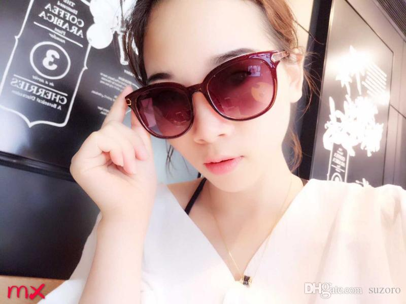 Sunglasses Luxury Women Brand Designer Fashion Oval Summer Style Mixed Color Frame Top Quality UV Protection Lens Come With Case
