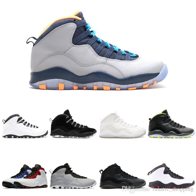 low priced 10ee5 f6892 Bobcats 10 Basketball Shoes 10s I m back cool grey infrared fusion red  venom Powder Blue men Sports Sneakers