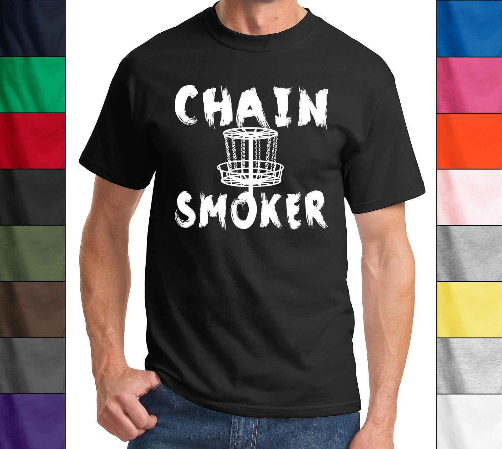9b41a983 Chain Smoker Funny T Shirt Funny Disc Golf Frisbee Tee Smoker Sports T Shirt  Funny Unisex Casual Tee Gift T Shirts Shopping Online T Shirts Sites From  ...