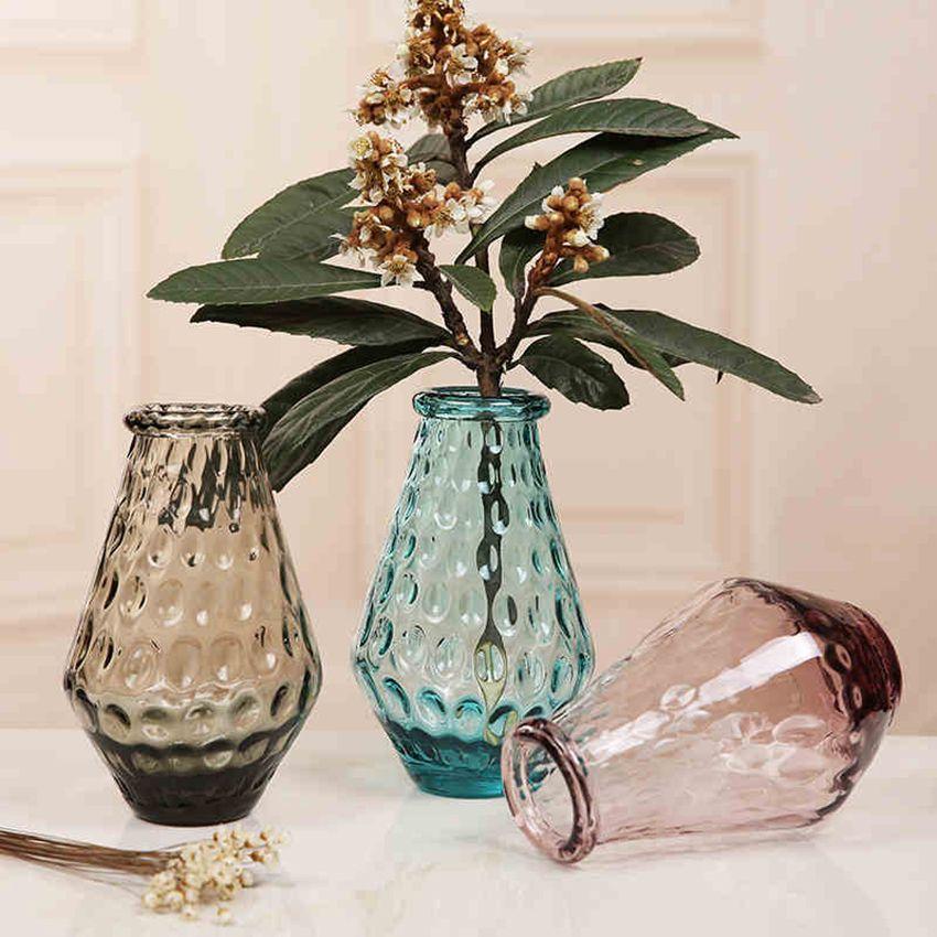 Colorful Crystal Tabletop Glass Vase Flower Vase Home Decor Wedding Party  Decor