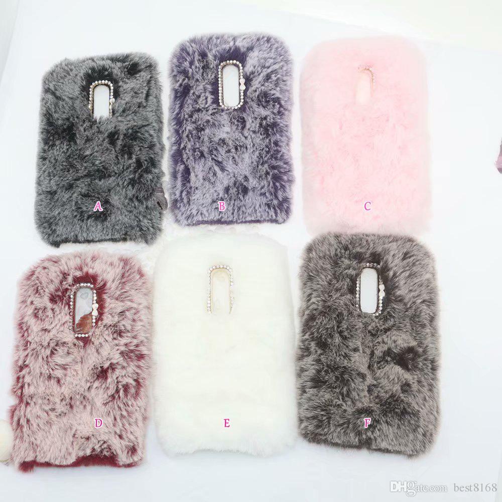 Genuine Rabbit Hair Case For Huawei P Smart 2019 Y5 Y6 Y72018 Mate 20 Pro 10 Lite Bling Diamond Fluffy Fur Girl Soft TPU Cute Cover Skin
