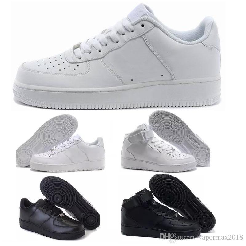 Compre Nike Air Force 1 One Nuevos Clásicos Hombres Mujeres 1 Zapatillas De  Running Famosos Zapatillas Deportivas Zapatillas De Skate Blanco Negro  Zapatos ... 5866eb0461348