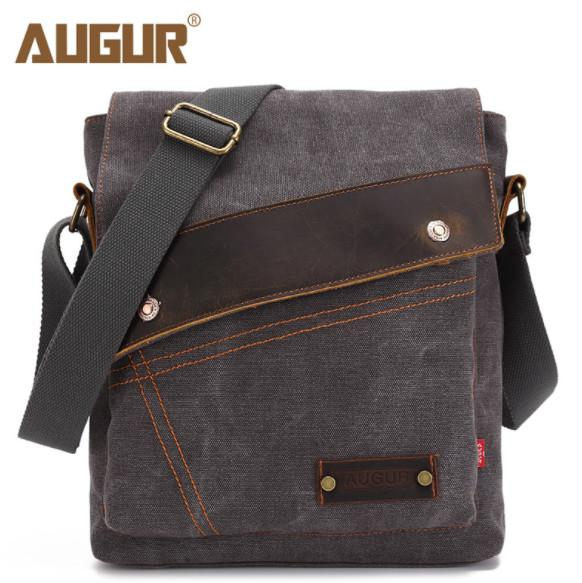 AUGUR 2018 Men S Canvas Messenger Bags Men And Women Vertical Crossbody Shoulder  Bag For IPAD Man S Messenger Bag School Handbag Womens Handbags Body Bags  ... f576c813f0