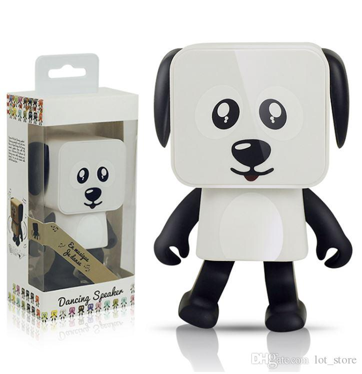 Dancing Wireless Bluetooth Speaker V4.1 Cute Smart Robot Dog Mini Outdoor Indoor Stereo Speaker with 6-Hour Playtime for Iphone X /Samsung