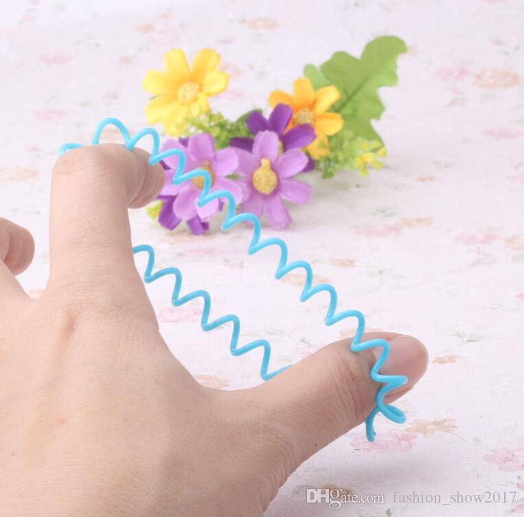 New Hair Ring Rope Scrunchy Telephone Wire Line Cord Gum Women Elastic Rubber Band Headwear Ponytail Holder Hairband