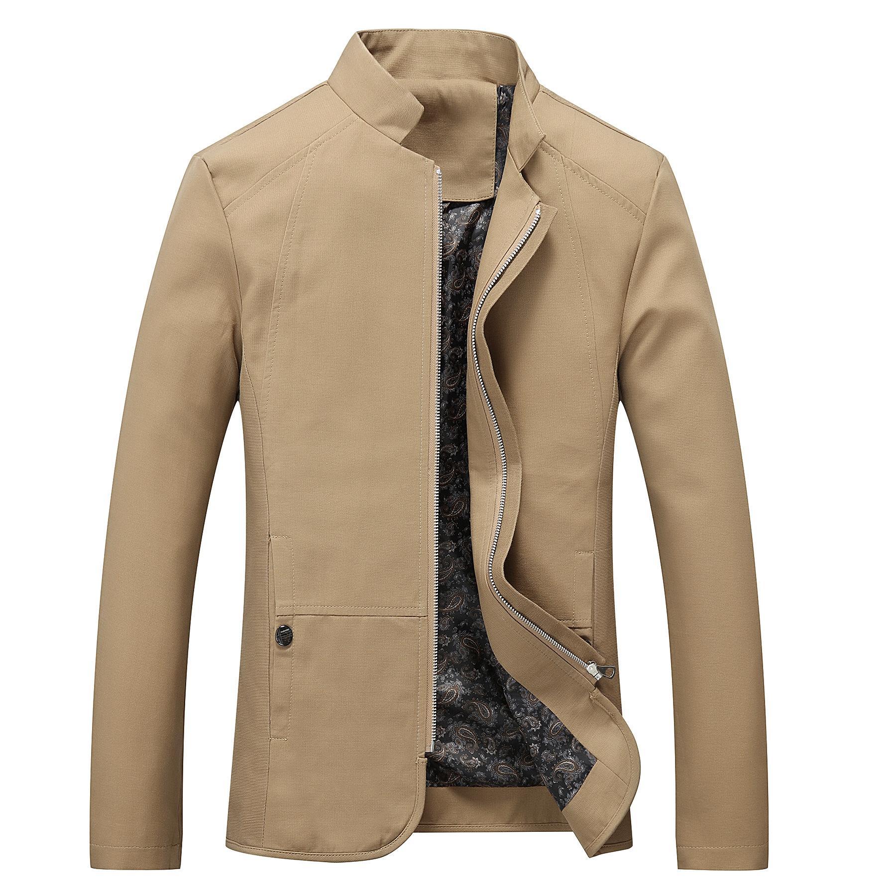 41e7b2d42d6 Mens Khaki Black Blazer Jacket Fit Casual Slim Mens Men Suit M-5XL ...
