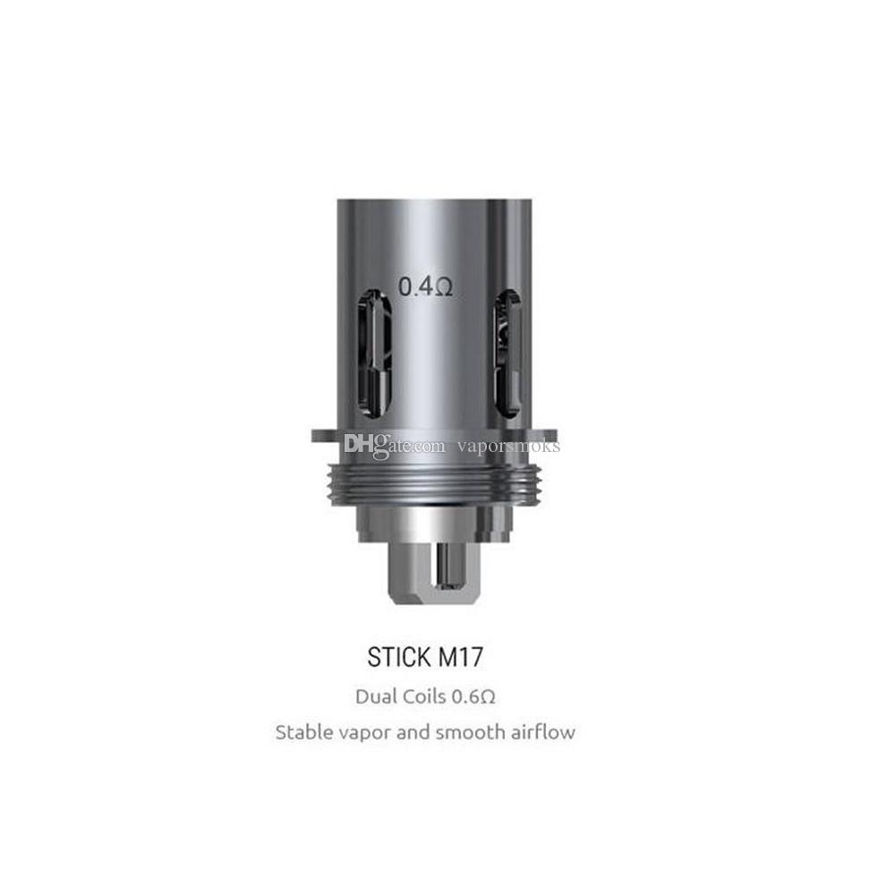 Stick M17 Coil Replacement Head Stick M17 All-in-one Kit Dual Coils 0.4 0.6ohm Fit for Stick M17 AIO Kit