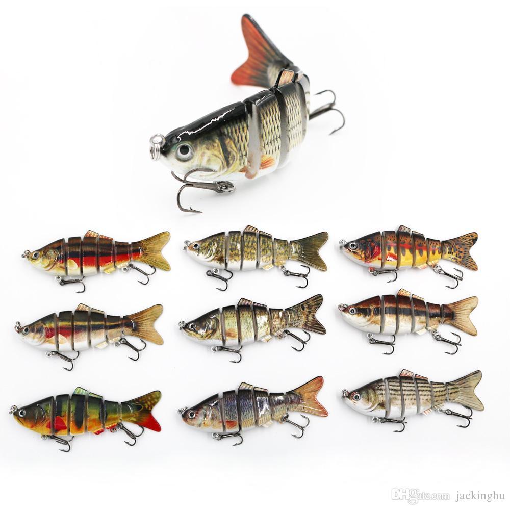Pesca Wobblers Lifelike Fishing Lure 6 segmenti Swimbait Crankbait Hard Bait Lento 10cm 18g Isca Artificiale Lures Attrezzatura da pesca