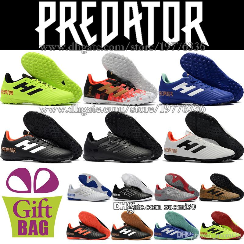 New Low Soccer Cleats Turf Predator Tango 18.4 Indoor Football Boots TF Mens  Trainers Leather Soccer Shoes Boots Size 6.5 11.5 UK 2019 From Zuomi30 42907d543d4