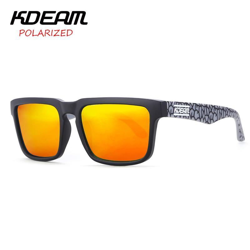 d07dbf9fb3757 Compre KDEAM Cool Color Block Homens Esporte Óculos De Sol Quadrado Quadro  Óculos De Sol HD Espelho Polarizado Lente UV400 Com Hard Case KD901P C13 De  Huazu ...