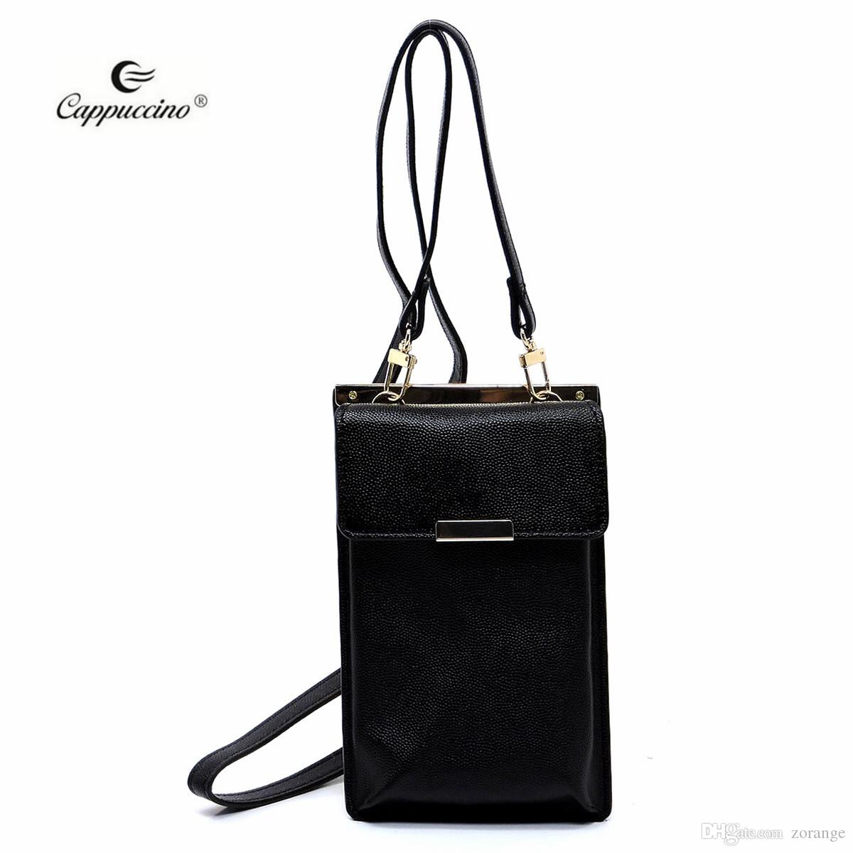 2018 Black Fashion Alibaba China Supplier Cappuccino Guangzhou Ladies Flat  Cell Phone Purse Pouches For Girls Simple Designer Handbags Crossbody Bags  From ... e4abf8d392
