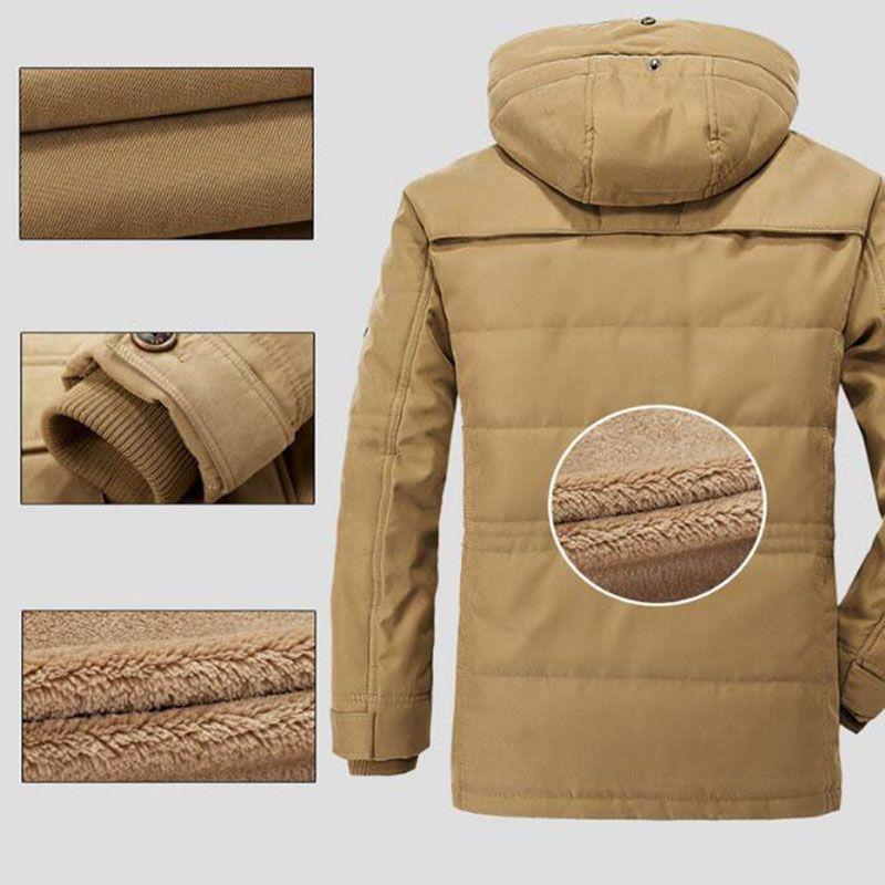 Plus Size L-3XL Winter Parkas Men Down Jacket 2017 Thick Nature Warm windbreaker Loose Brand AFS JEEP Original Male Coats