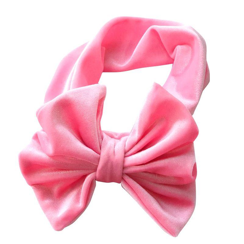 Новые рождественские малыши Princess Bow Headbands Baby Baby Girls Velvet Hairbands 2018 Babies Stretchy Hair Accessories