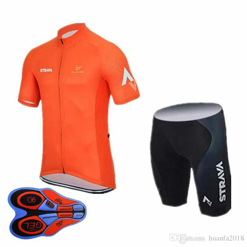 Pro STRAVA Team Jersey Cycling Clothing Summer Quick Dry Ropa ... 8c109eadd