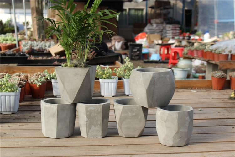 2019 Creative Polygon Vase Concrete Planter Mold Handmade