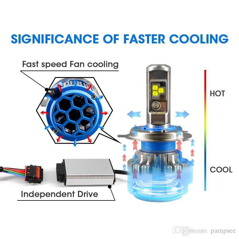 Auto Scheinwerfer H7 H4 LED H8 / H11 HB3 / 9005 HB4 / 9006 H1 H3 H13 9007 70W 7000lm Auto Glühbirne Scheinwerfer 6000K Licht