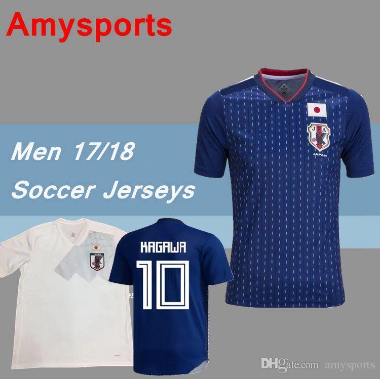 687f9b877 2019 2018 World Cup Japan Home Blue Away White Soccer Jersey OKAZAKI ...