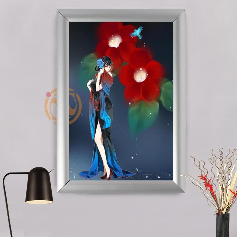 Online Cheap Fashion Boutique Custom Flowers Frame Painting Canvas ...