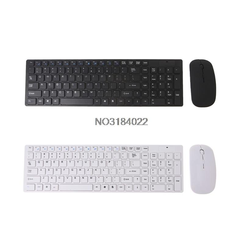 2 4G Ultra-thin Wireless Keyboard and Mouse for Desktop Windows 7/8/XP/NT/ME