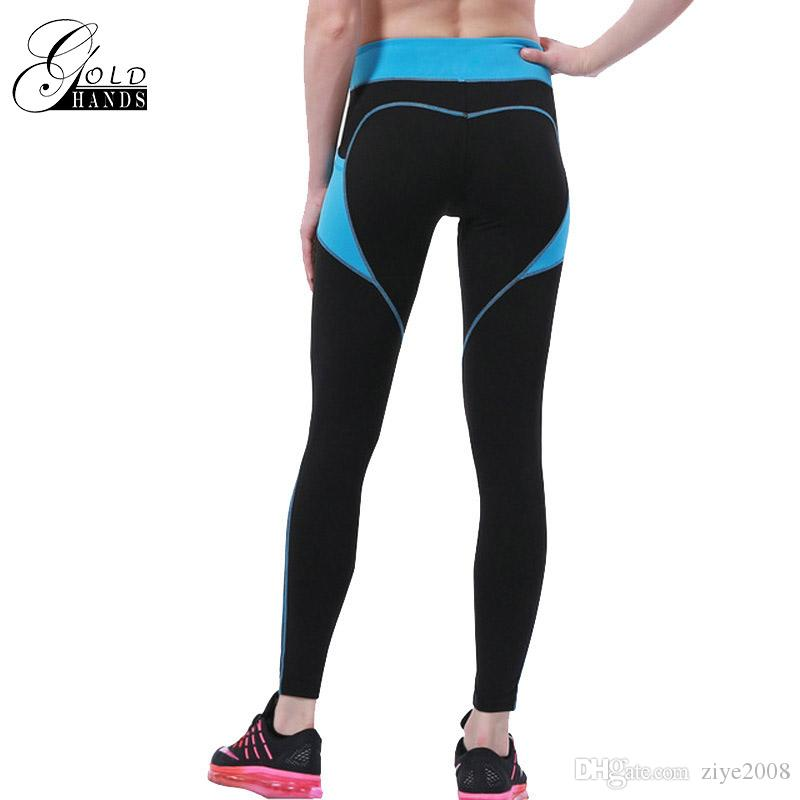 Neue sport leggings dünne yoga hosen frauen butt-lift sport fitness gym übung training sportbekleidung elastische taille patchwork