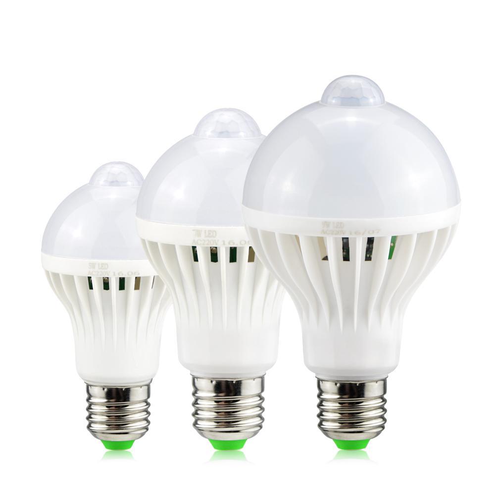 Acquista Lampada Led Con Sensore Di Movimento E27 220v 5w 7w 9w On