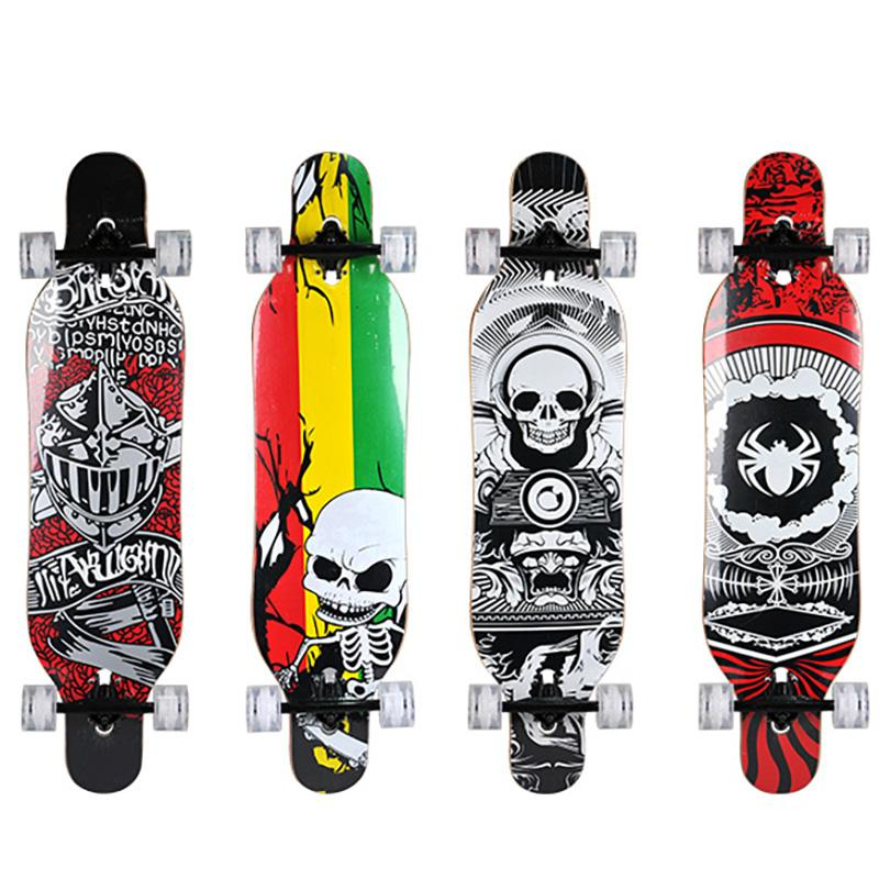 050a135090 2019 WEING 529 Double Tilt Skateboard Penny Board Skate Longboard Hand  Painted Maple Wood Deck From Towork