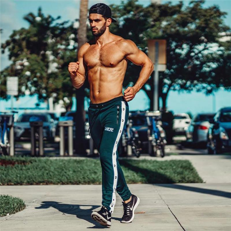 95fb1ce04ed 2019 Gym Clothing Autumn Winter Sports Pants Men Training Running Fitness  Leggings High Waist Male Sweatpants Jogger Track Pants Mens From Annuum