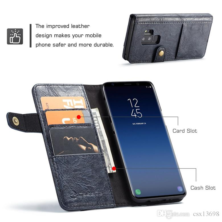 Retro Leather Wallet Case For Iphone 11 Pro X XS Max XR 8 7 6 6S Galaxy S10 S9 S8 Note10 9 8 ID Credit Card Luxury Flip Cover