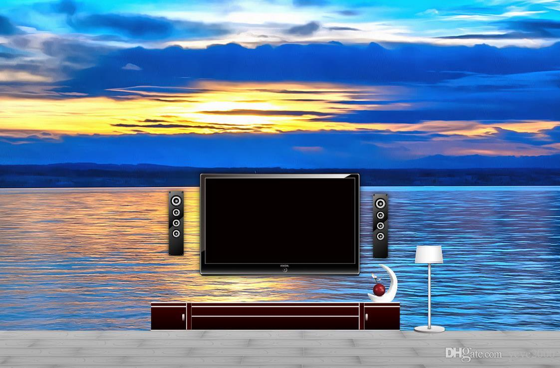 3d wall murals wallpaper custom photo wallpaper Sailing on the sea TV background wall paintings frame painting decorative painting