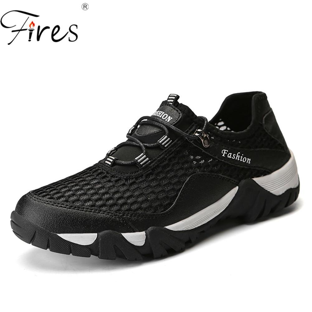 d0a2f97ccc5 Compre Incêndios Sapatos De Caminhada De Verão Ao Ar Livre Respirável Homens  Sapatos De Escalada Tênis Esportivos Respirável Sandals Creek Caminhada Da  Água ...