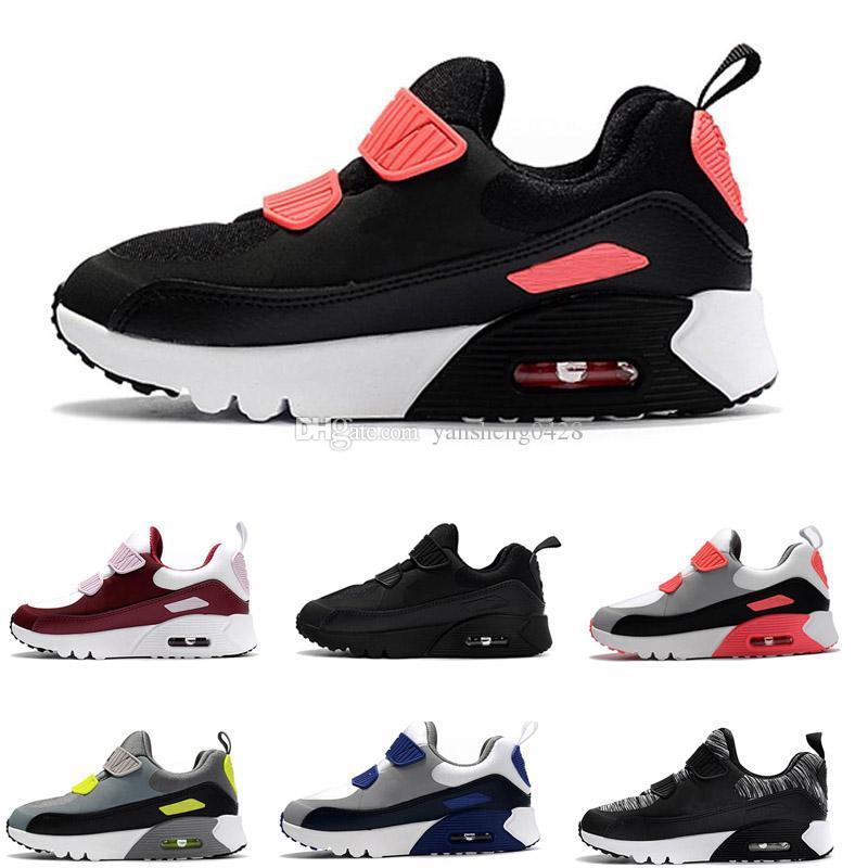 Nike air max 90 Chaussures de sport pour enfants Presto 90 II Chaussures de course pour enfants Noir blanc Baby Infant Sneaker 90 Chaussures de sport