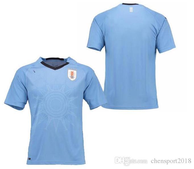 eaa44e277a3 Uruguay 2018 World Cup Soccer Jersey Home Gray 18 19 Cavani Vecino ...