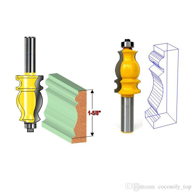 """DIY Woodworking Tools 1/2"""" Shank Architectural Molding Router Bit"""