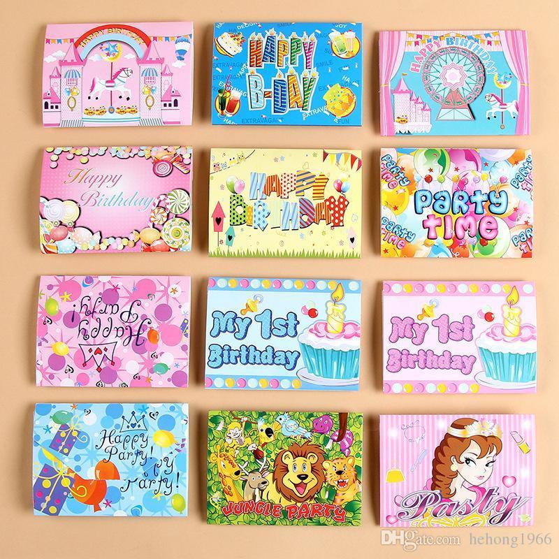 Paper Birthday Invitation Card Flamingo Unicorn Girl Boy Cartoon Crown Happy Birthdays Party Invitations Cards Kid Greet Papers 0 15by Ff Singing