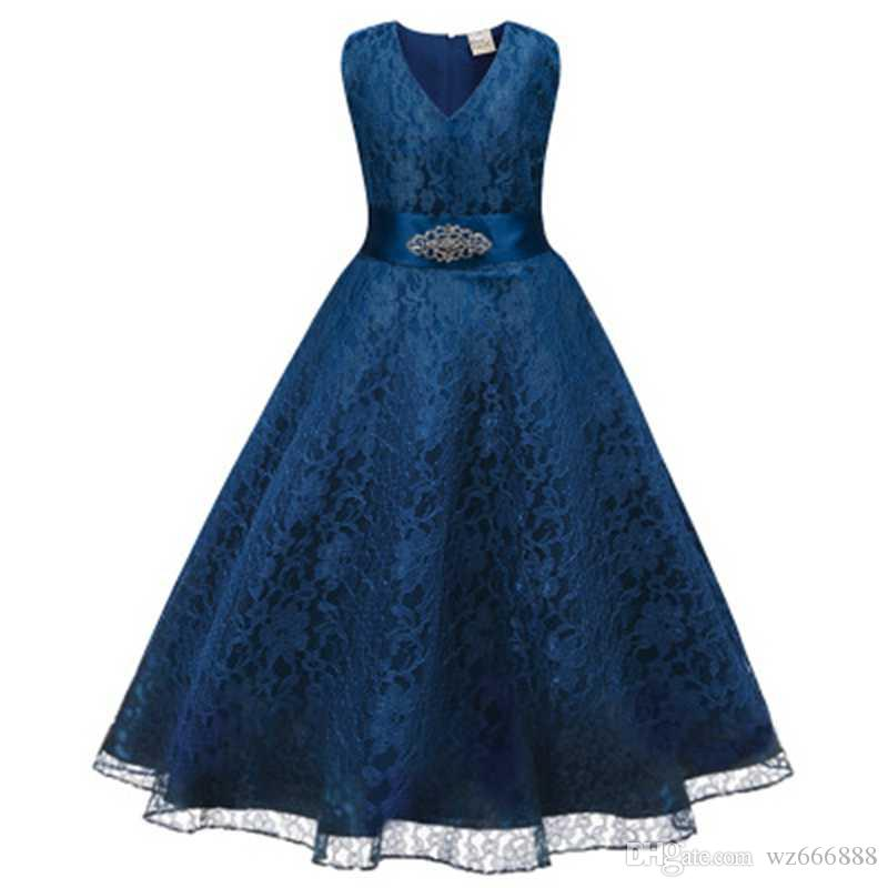 9c89c198af5 Kids Girl Wedding Prom Gown Evening Formal Dress Children s Princess  Costume For Girls Clothes Teenage Girl Party Ceremony Dress